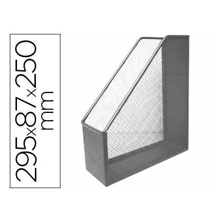 Revistero gris metalico rejilla Q-Connect