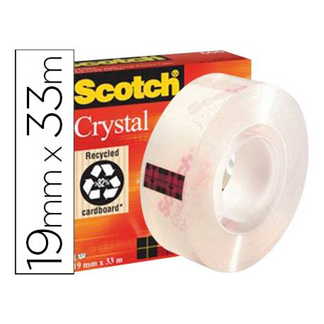 Cinta adhesiva marca Scotch super transparente