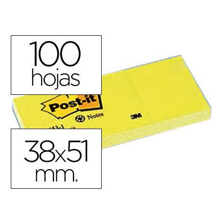 Bloc quita y pon Post-it ® 38x51mm pack de 3 blocs