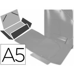 Carpeta lomo flexible gomas con solapas marca Liderpapel Din A5 transparente