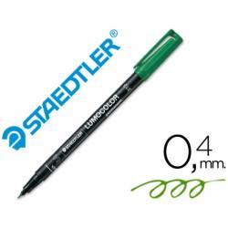 Rotulador Retroproyección Permanente Staedtler Lumocolor 313 Color Verde Punta Superfina Redonda