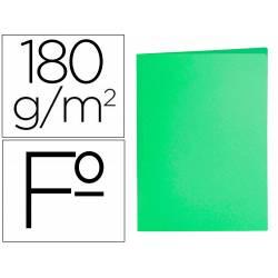Subcarpeta cartulina folio Liderpapel color verde
