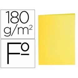 Subcarpeta cartulina folio Liderpapel color amarillo