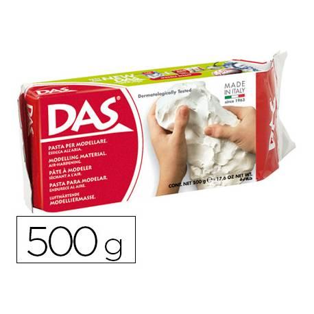 Pasta blanca para modelar Das de 500 gramos (medio Kg). Color Blanco
