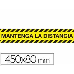 "CINTA ADHESIVA DE SEÑALIZACION ""MANTENGA DISTANCIA DE SEGURIDAD"" PVC 165 MG MEDIDAS BANDA 450 X 80"