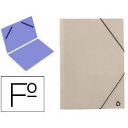 Carpeta de gomas Mariola tamaño Folio sin solapas Color Gris ECO