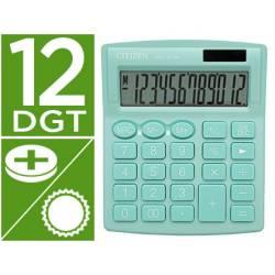 Calculadora sobremesa Citizen Modelo SDC-812 NRNVE Eco 12 digitos Verde