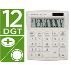 Calculadora sobremesa Citizen Modelo SDC-812 NRNVE Eco 12 digitos Blanco