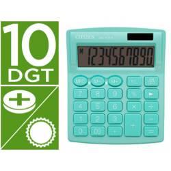 Calculadora sobremesa Citizen Modelo SDC-810 NRGNE 10 dígitos Verde