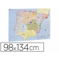 Mapa mural de España y Portugal politico autonomico marca Faibo