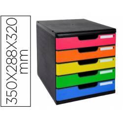 Fichero con cajones sobremesa multicolor marca Exacompta