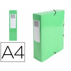 Carpeta de proyecto Exacompta gomas carton plastificado DIN A4 Color Verde Anis