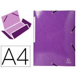 Carpeta de gomas Exacompta Din A4 Color Violeta