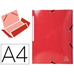 Carpeta de gomas Exacompta Din A4 Color Rojo