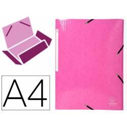 Carpeta de gomas Exacompta Din A4 Color Rosa