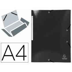 Carpeta de gomas Exacompta Din A4 Color Negro