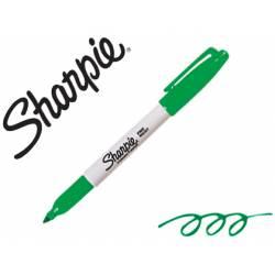 Rotulador Sharpie Permanente Color Verde Punta fina Caja 12 unidades