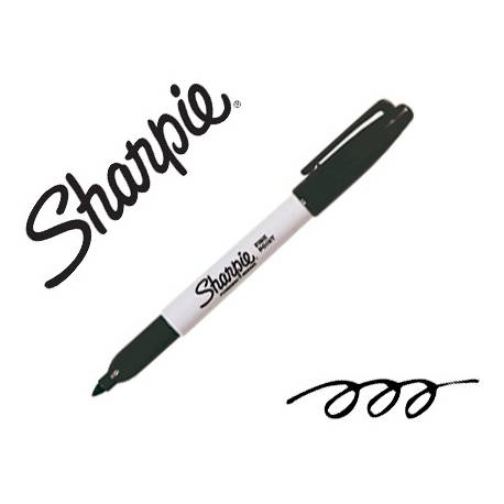 Rotulador Sharpie Permanente Color Negro Punta fina Caja 12 unidades