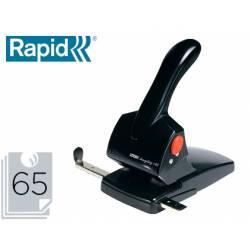Taladrador Rapid HCD65 Fashion color negro capacidad para 65 hojas