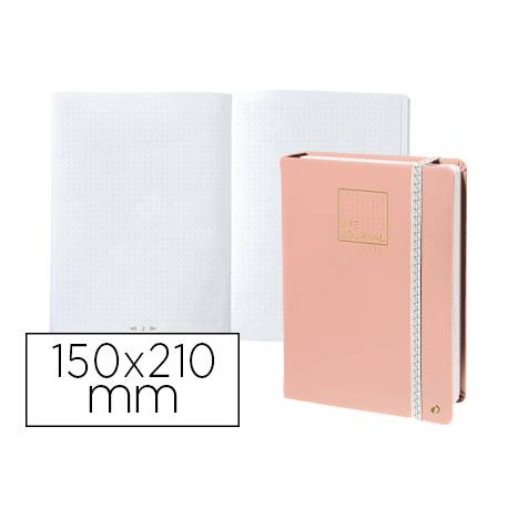 Libreta Quo Vadis Life Journal Infinite Dots 150x210 mm Puntos Tapa Similpiel Rosa