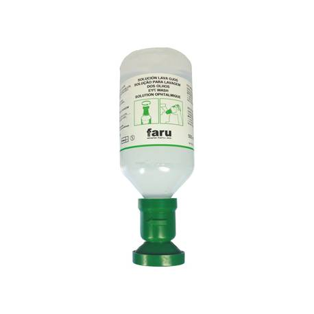 Lavaojos solucion salina marca Faru 500 ml