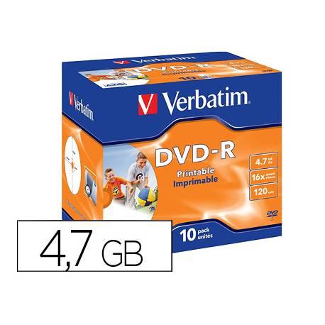 DVD-R VERBATIM Capacidad 4,7 GB duración 120 min