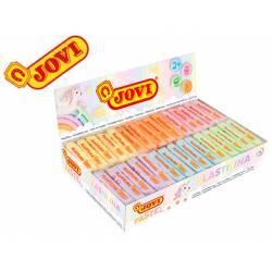 Plastilina Jovi colores pastel surtidos caja 30 unidades