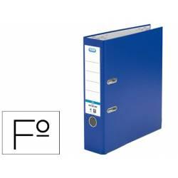 Archivador de palanca Elba Carton forrado PVC Folio Lomo de 80 mm color Azul