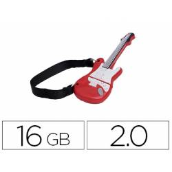 Memoria Flash USB de Technotech 16 GB Guitarra Red One