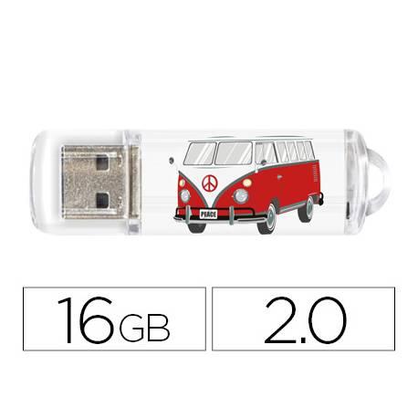 Memoria Flash USB de Technotech 16 GB Camper Van-Van