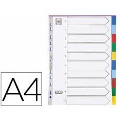 Separador Elba plastico DIN A4 11 taladros en colores surtidos