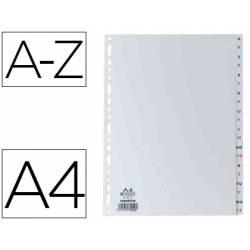 Separador alfabetico Elba plástico DIN A4 11 taladros en color gris