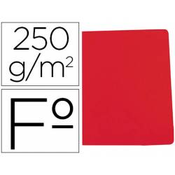 Subcarpeta Gio Folio 250 gr Cartulina color rojo