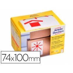 Etiquetas Adhesivas Avery Mantener alejado del calor 74 x 100 mm rollo 200 etiquetas
