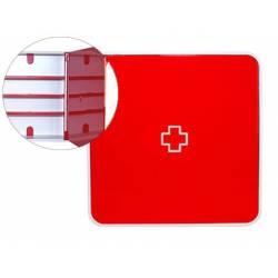 Organizador Paperflow Plástico 3 estantes para medicinas color Rojo