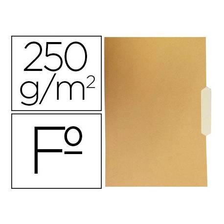 Subcarpeta de cartulina Gio Folio bicolor pestaña central 250g/m2