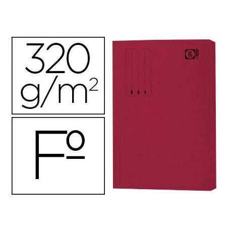 Subcarpeta pocket de cartulina Gio Folio con bolsa y solapa burdeos 320g/m2