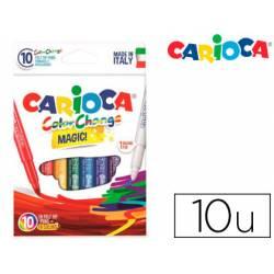 Rotulador Tinta magica carioca caja de 10 unidades
