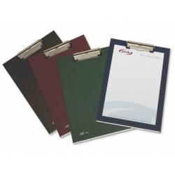 Portanotas plastico folio con pinza superior Pardo negro