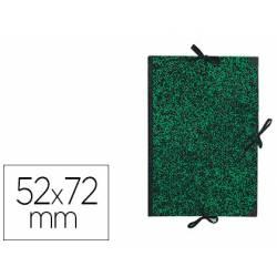 Carpeta de Dibujo Canson Classic 52x72cm Cartón Kraft con Gomas Color Mármol Verde