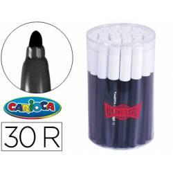 Rotulador Carioca Jumbo grueso caja 30 rotuladores negros