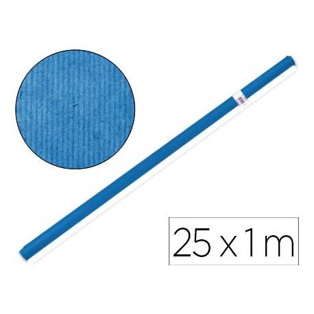 Bobina papel tipo kraft Liderpapel 25 x 1 m azul