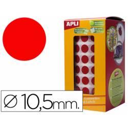 Gomets Apli circulares color rojo 10,5mm