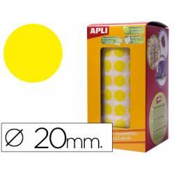 Gomets Apli circulares color amarillo 20mm