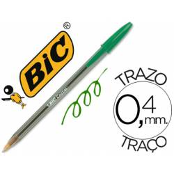 Boligrafo Bic Cristal color verde 0,4 mm