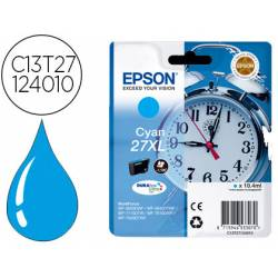 Cartucho Epson 27 XL Durabrite color Cian C13T27124012