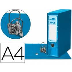 Archivador de palanca Liderpapel Filing System con caja A4 Lomo 80 mm color Celeste