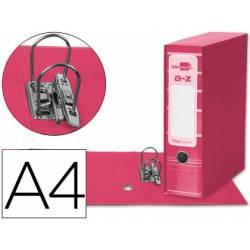 Archivador de palanca Liderpapel Filing System con caja A4 Lomo 80 mm color Rosa