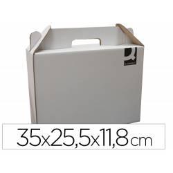 Caja Maletín de Cartón Q-connect para Embalar 35x25,5x11,8 cm con Asa