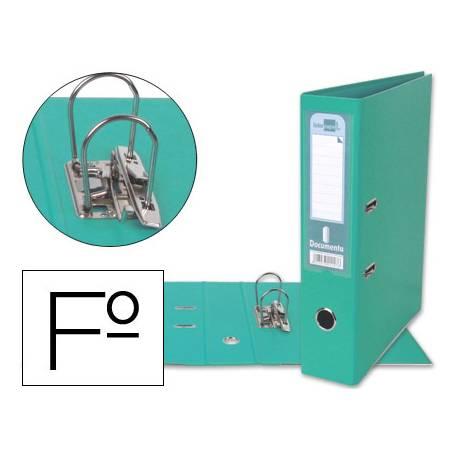 Archivador de palanca Liderpapel folio color verde claro lomo 75mm